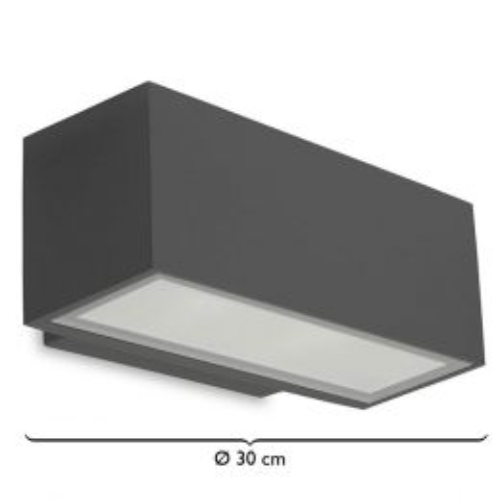 LEDS-C4 Afrodita LED-Wandleuchte Down 300mm Anthrazit