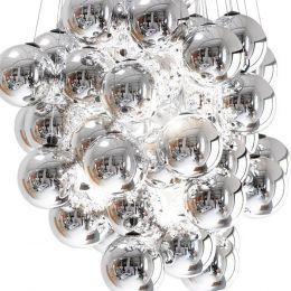 Luceplan Stochastic LED-Pendelleuchte 48-flammig Metallisiert