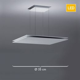 Lumini Quadrattinha LED-Pendelleuchte Weiß