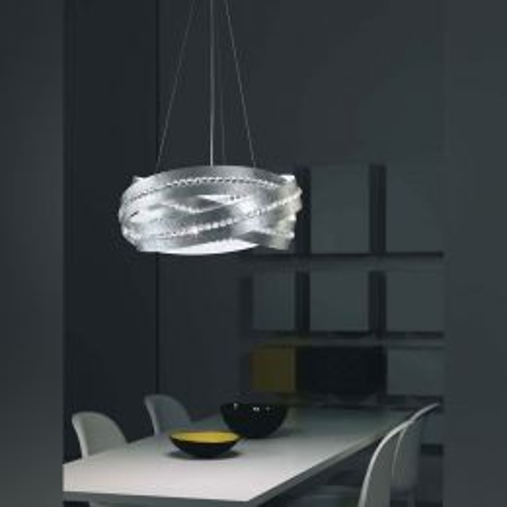 Marchetti Essentia S120 Sospensione LED-Pendelleuchte Blattsilber