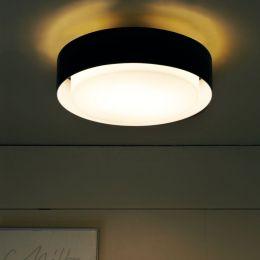 Marset Plaff-On! 50 LED-Wand- und Deckenleuchte-Schwarz