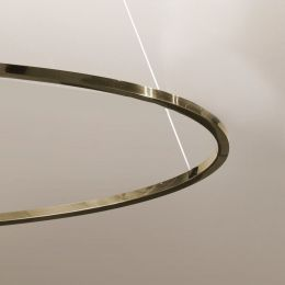 Nemo Ellisse Major Uplight LED-Pendelleuchte-Gold; mit LED (2700K)