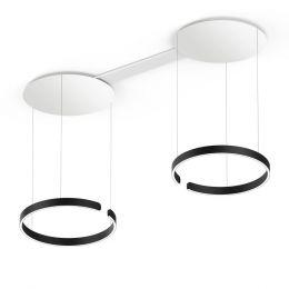 Occhio Mito Sospeso Due 60 LED-Pendelleuchte Schwarz matt