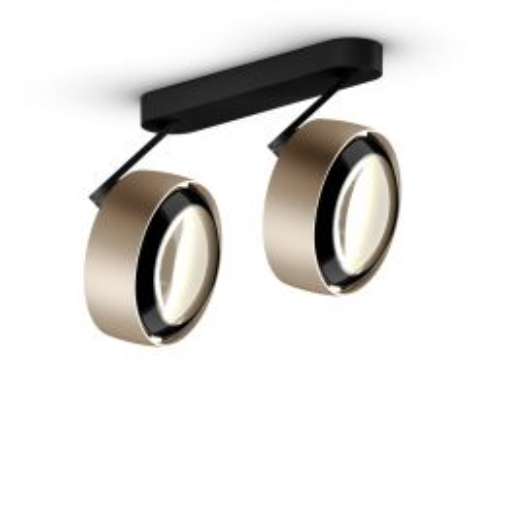 Occhio Piu alto 3d doppio VOLT mit C 80-Aufbaudose/base Weiß matt-Kopf/head Chrom-Körper/body Chrom-mit LED (2700K)