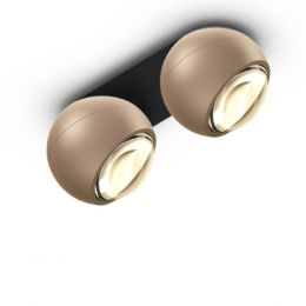 Occhio Io Giro Doppio Volt LED-Deckenstrahler-Schwarz/Gold; mit LED (2700K)
