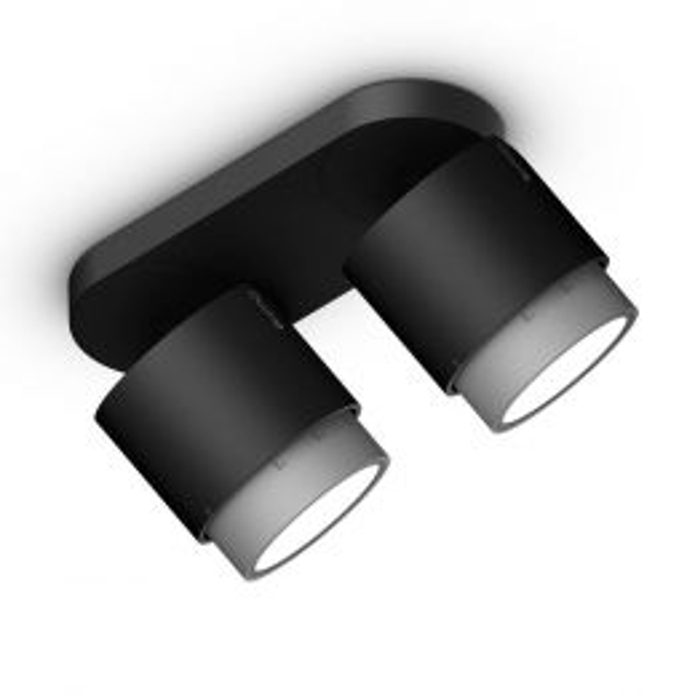Occhio Lui Alto Doppio VOLT LED-Deckenstrahler-Schwarz/Chrom matt; mit LED (3000K)