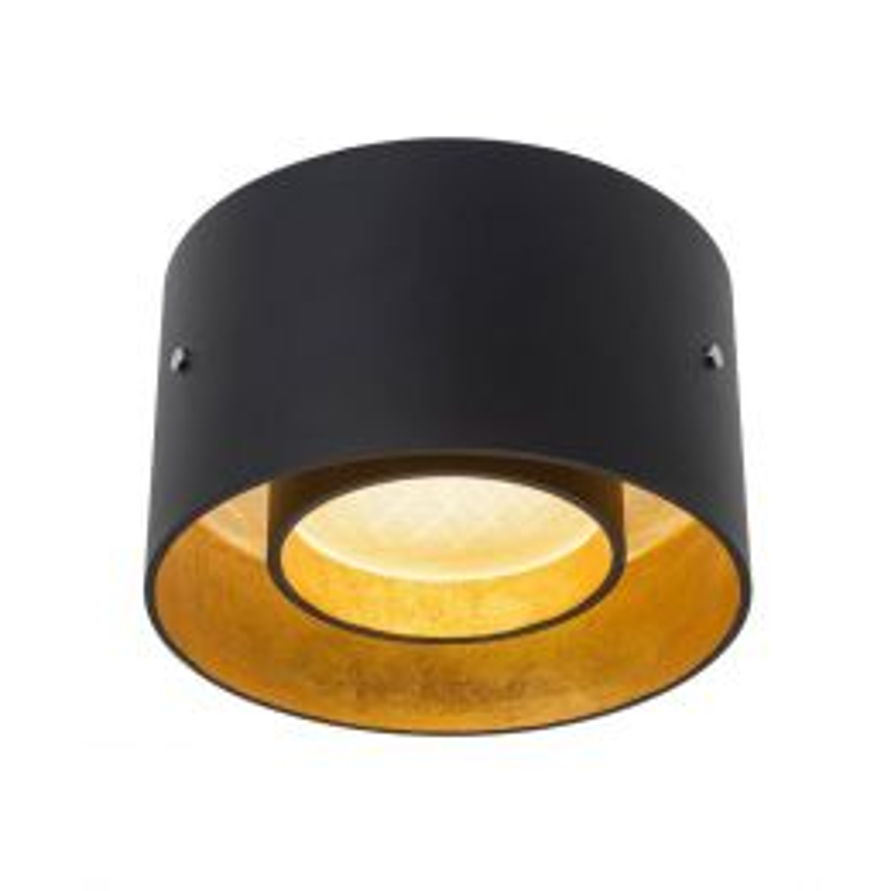Oligo Trofeo LED-Deckenleuchte-Schwarz/Gold; mit LED (2700K)