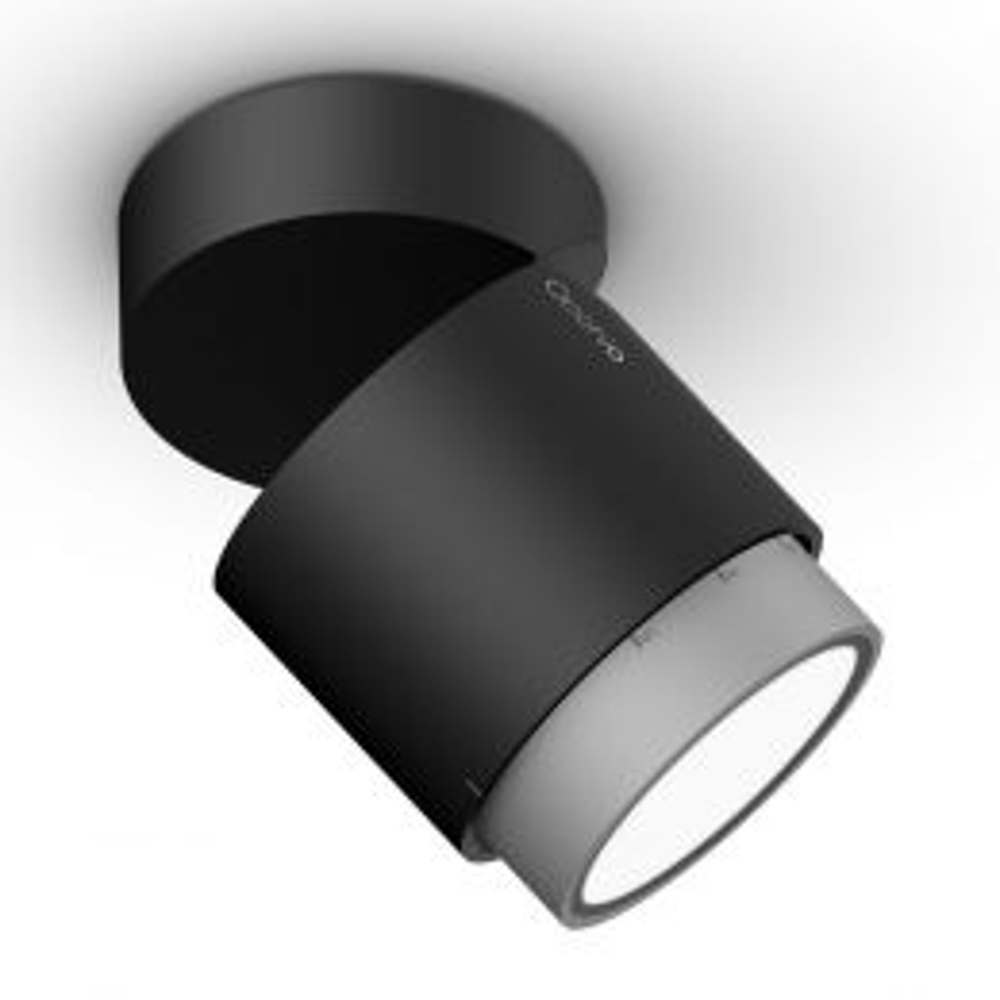 Occhio Lui Volto VOLT Zoom LED-Deckenstrahler-Schwarz/Chrom matt; mit LED (2700K)