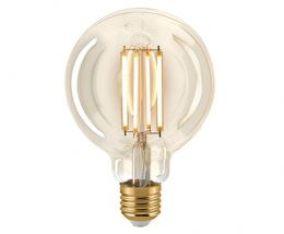 Sigor 8,5 Watt LED Globelampe Filament gold dimmbar 95 mm
