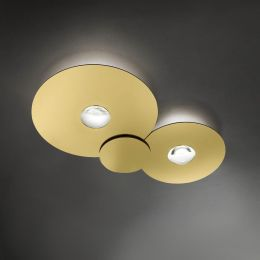 Studio Italia Design Bugia Double LED-Deckenleuchte Gold
