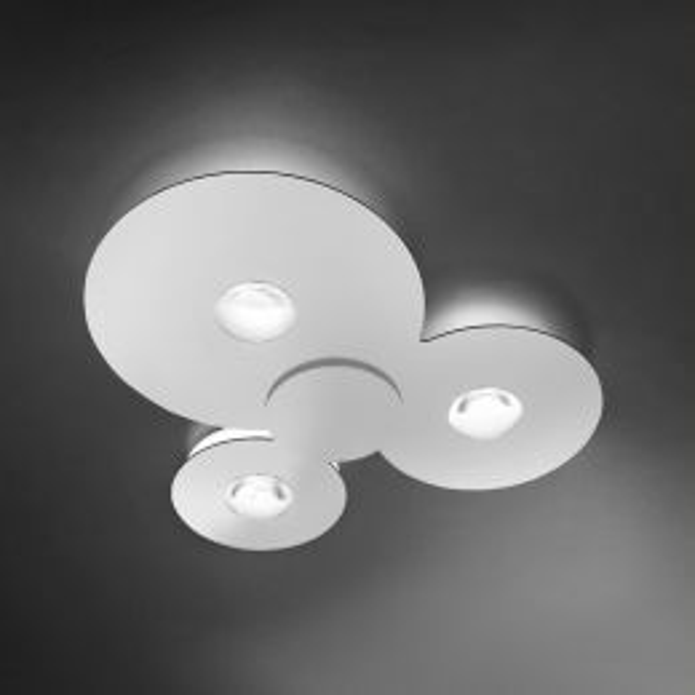 Studio Italia Design Bugia Triple LED-Deckenleuchte Weiß