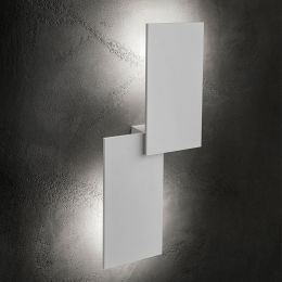 Studio Italia Design Puzzle Outdoor Double Rectangle LED-Wandleuchte