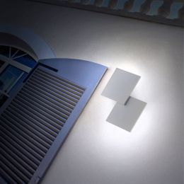 Studio Italia Design Puzzle Outdoor Double Square LED-Wandleuchte