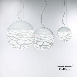 Studio Italia Design Kelly Small Sphere 40 Sospensione Pendelleuchte Weiß matt