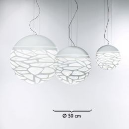 Studio Italia Design Kelly Medium Sphere 50 Sospensione Pendelleuchte Weiß matt