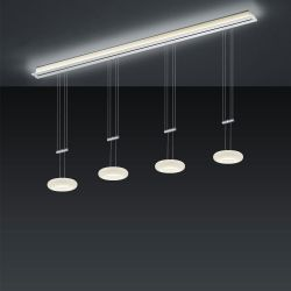 Bankamp Strada Up & Down Centa 2180 LED-Pendelleuchte-Schiene 185 cm Länge-4-flammig-Schiene ohne Dimmer-mit LED (2200K - 2700K)