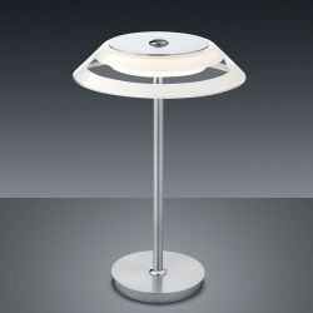 Bankamp Callas 5973 LED-Tischleuchte-Nickel matt/Chrom-mit LED (2200K - 2700K)