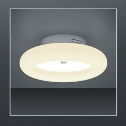 Bankamp Centa 7729 LED-Deckenleuchte-Nickel matt/Chrom-mit LED (2200K - 2700K)