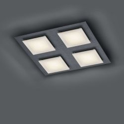 Bankamp Ino 7755 LED-Deckenleuchte 4-flammig-Anthrazit matt-mit dim2warm (2200K - 2700K) 01
