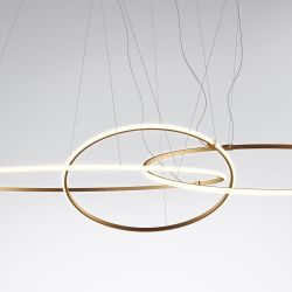 Fabbian Olympic F45 A11 LED-Pendelleuchte-Bronze-mit LED (3000K)