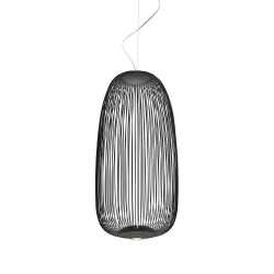 Foscarini Spokes 1 MyLight Sospensione LED-Pendelleuchte Graphit