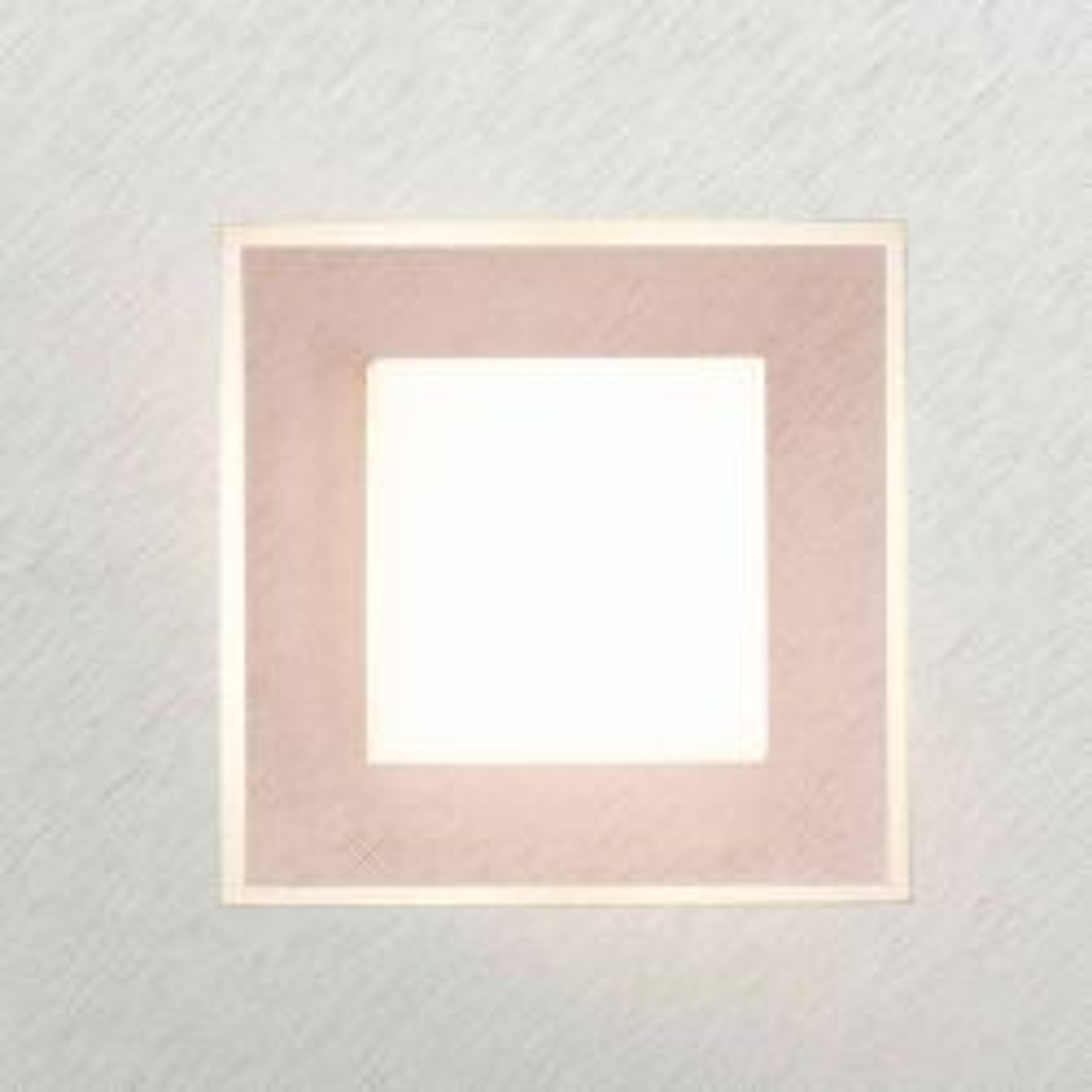 Grossmann Leuchten Karree 74-783 LED-Wand-/Deckenleuchte -Alu gebürstet - Kupfer; mit LED