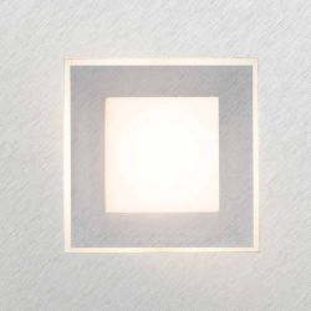 Grossmann Leuchten Karree 72-783 LED-Wand-/Deckenleuchte -Alu gebürstet - Titan; mit LED