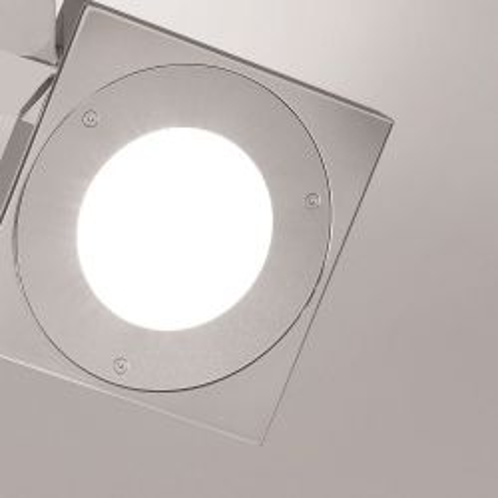Minitallux Mix AP2 LED-Wandleuchte-poliertes Aluminium/grau; mit LED
