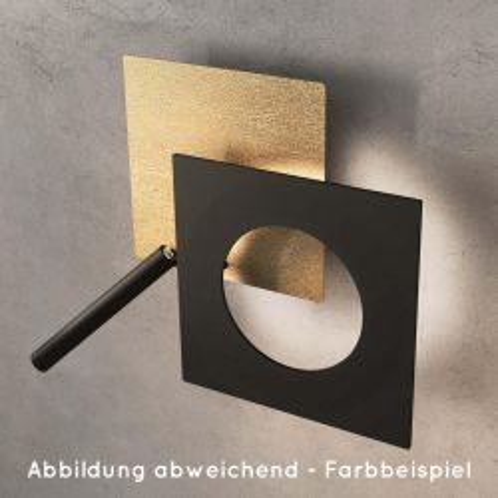 Minitallux Petra 50 LED Deckenleuchte-Blattgold - Schwarz-mit LED (2700K)