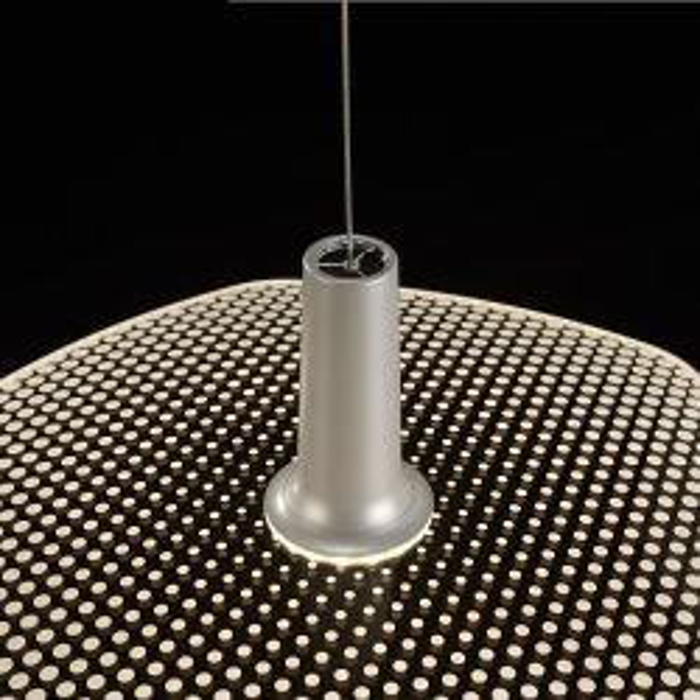 LDM WYNG LED-Pendelleuchte-Silbermetallic-Punkte-mit LED (2700K)
