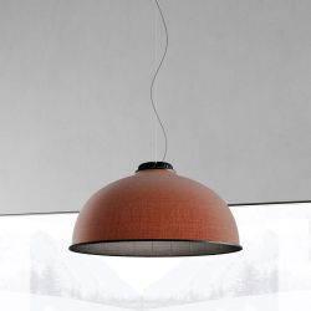 Luceplan Farel D96 LED-Pendelleuchte-Schwarz matt-Rost-Dunkelgrau-mit LED (2700K)