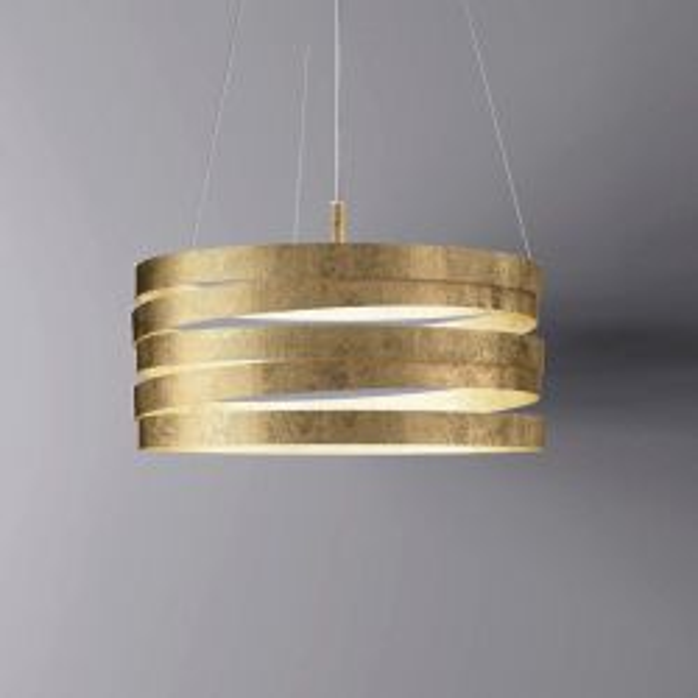 Marchetti Band Sospensione S50 LED-Pendelleuchte-Gold
