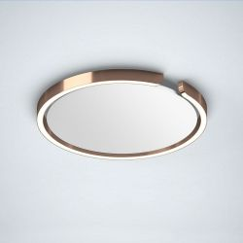 Occhio Mito Soffitto 40 Up LED-Deckenleuchte-Rosé Gold-Narrow für gebündeltes Licht von 50°-mit Occhio air Modul-mit LED (2700K - 4000K)