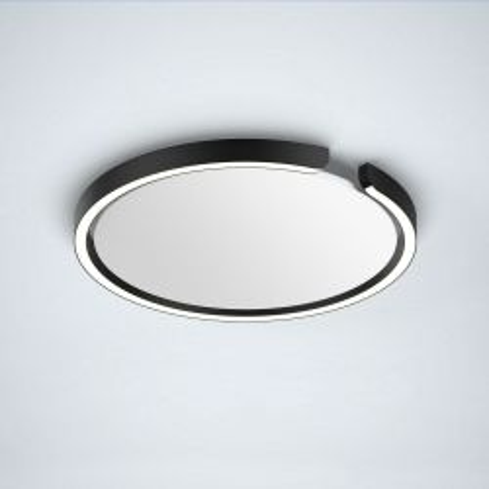 Occhio Mito Soffitto 40 Up LED-Deckenleuchte-Schwarz matt-Wide für breit abstrahlendes Licht von 80°-mit Occhio air Modul-mit LED (2700K - 4000K)