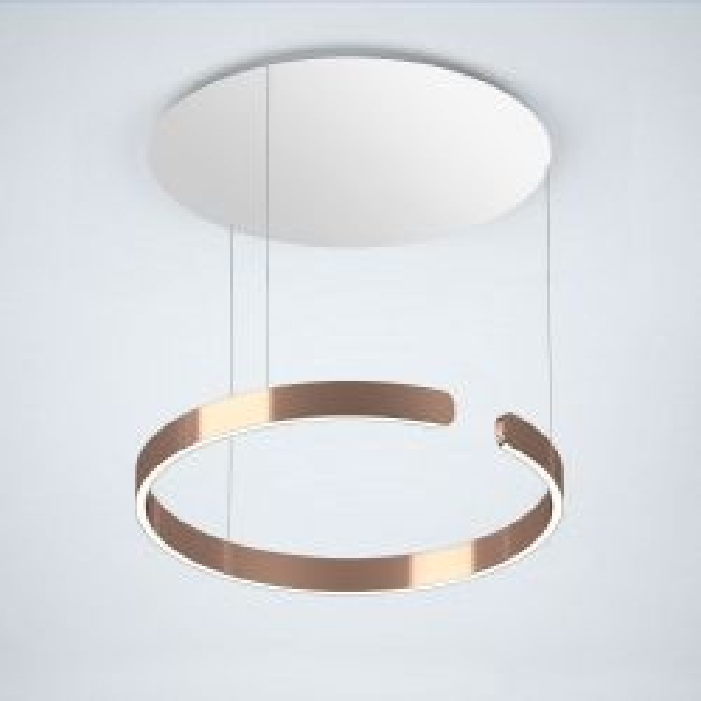 Occhio Mito Sospeso 60 Up LED-Pendelleuchte-Pendel Rose Gold-Ausführung variabel 50-200 cm-Narrow für Raumbeleuchtung