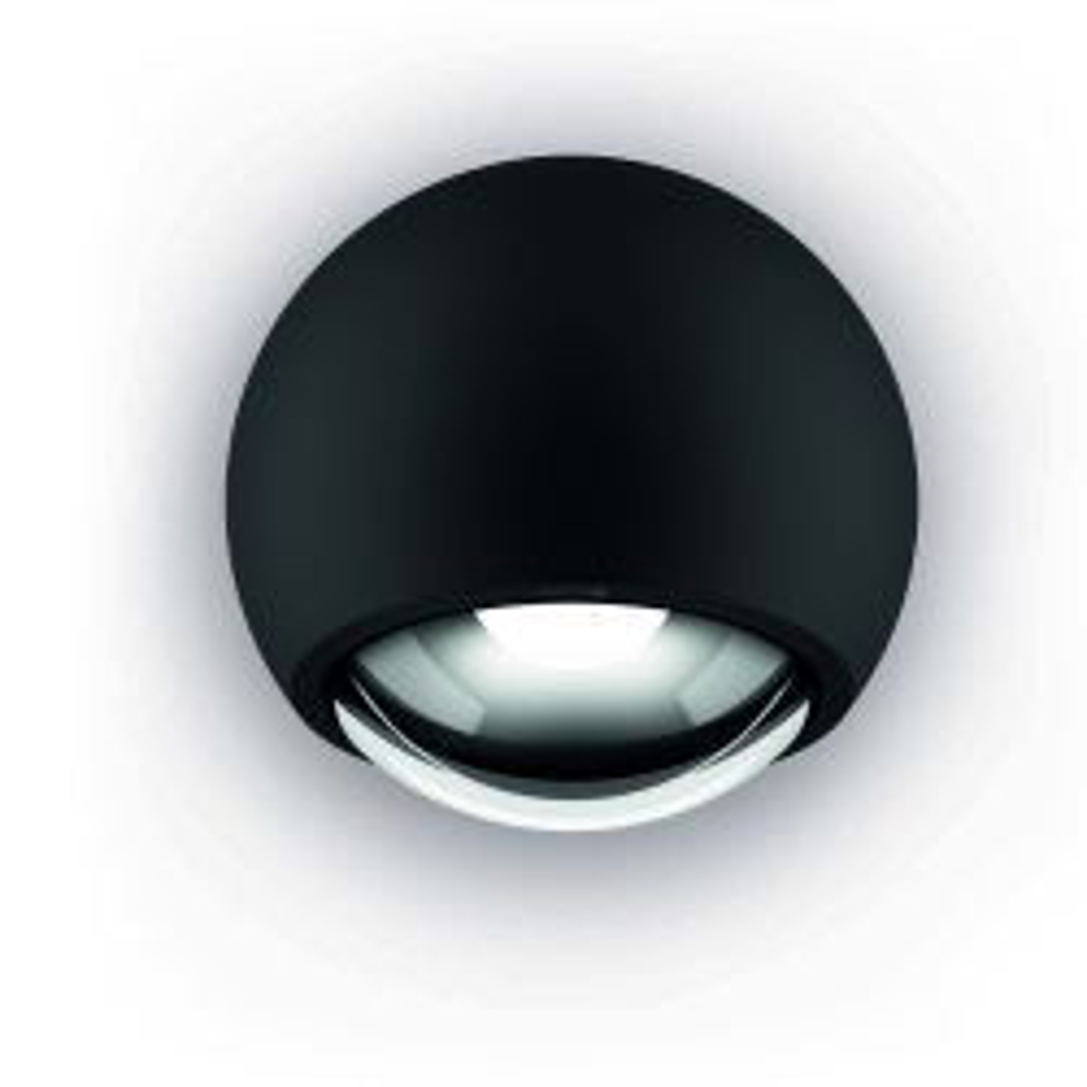Occhio Sito lato Volt LED Wand-/Deckenleuchte-Schwarz matt-Contour C80-mit LED (2700K)