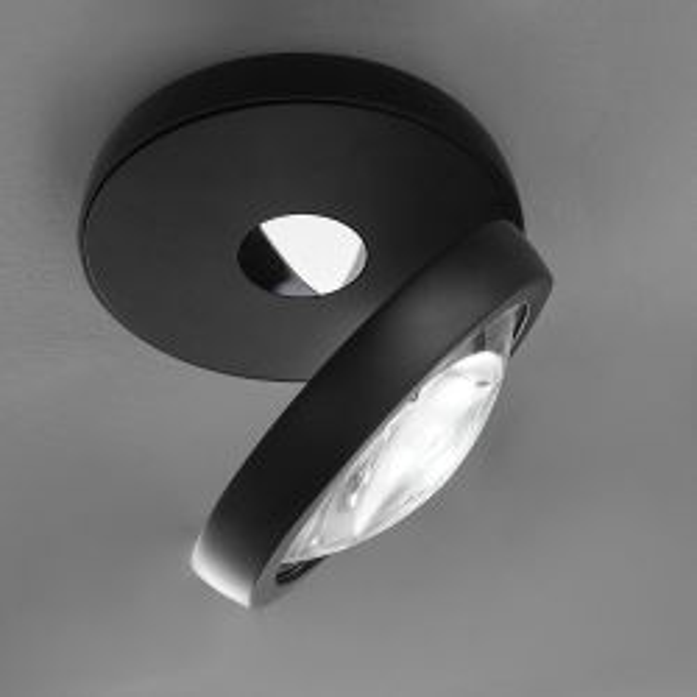 Studio Italia Design Nautilus LED-Deckenleuchte-Schwarz-mit LED (3000K)