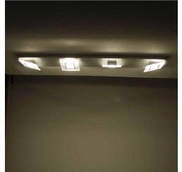Bopp Leuchten Frame 4-flammig LED-Deckenleuchte 100 cm
