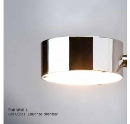 Top Light Puk Wall Plus, Glas/Glas - Leuchte drehbar