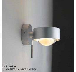 Top Light Puk Wall Plus LED, Linse/Glas - Leuchte drehbar