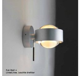 Top Light Puk Wall Plus LED, Linse/Linse - Leuchte drehbar