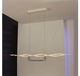 Escale Silk LED-Pendelleuchte kurz mit Druckschalter