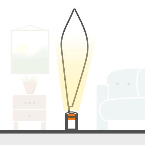 Lichtobjekte mit Standfuss von vielen Markenherstellern bei lampenonline kaufen