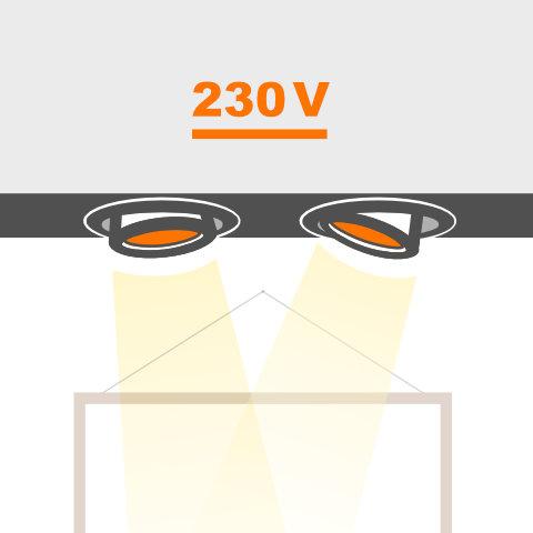 Deckeneinbauleuchten 230V von vielen Markenherstellern bei lampenonline kaufen