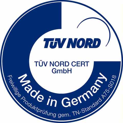 TÜV-zertifiziert Made in Germany