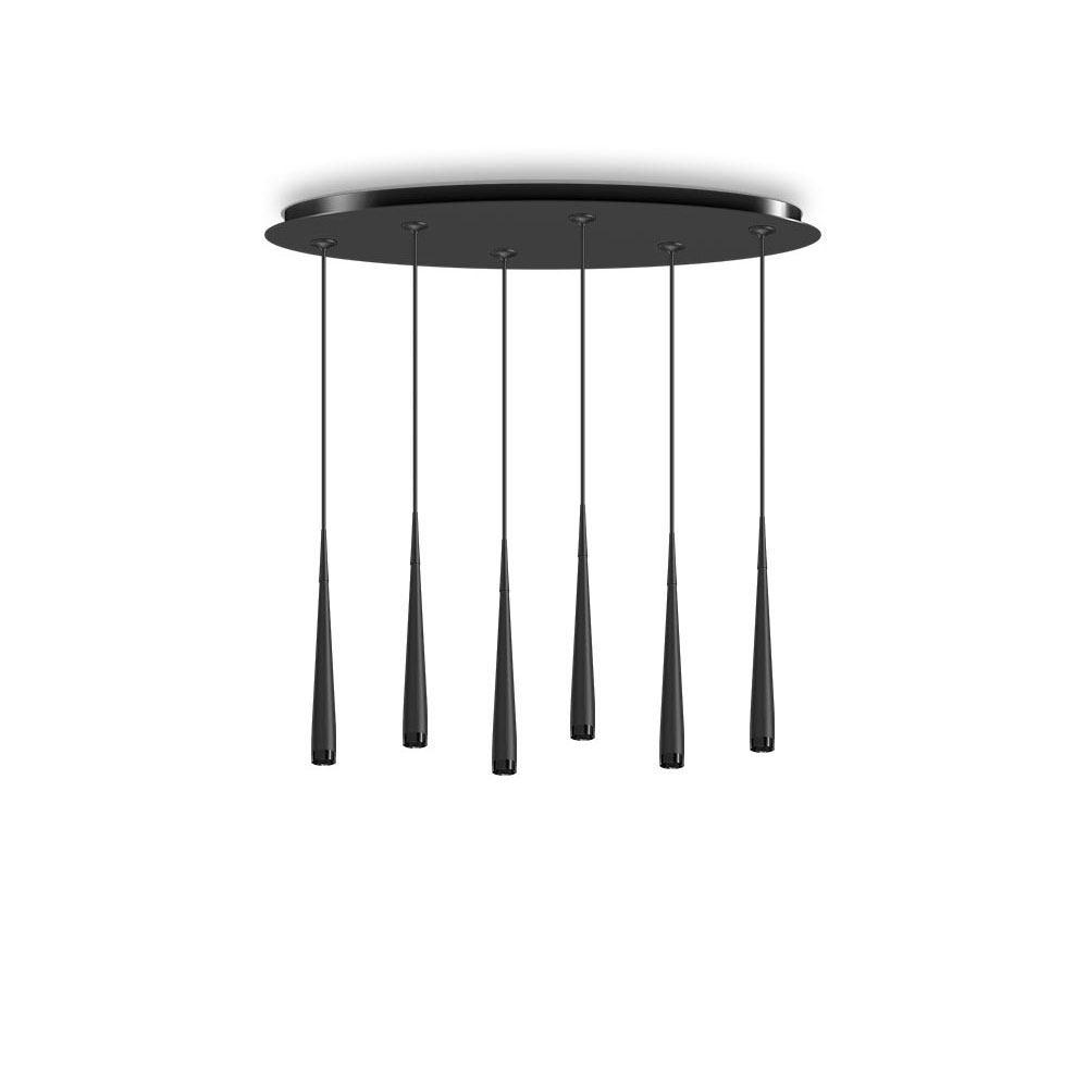 tobias grau nice rain oval 9 led pendelleuchte 9 flammig. Black Bedroom Furniture Sets. Home Design Ideas