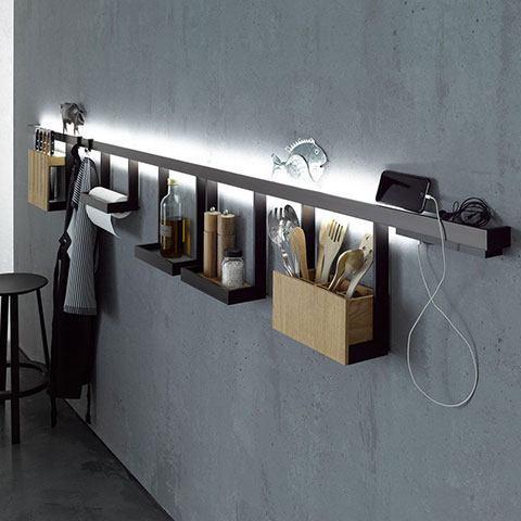 GERA Leuchten Lichtreling mit Glasablage Leuchten in vielen Größen und Varianten