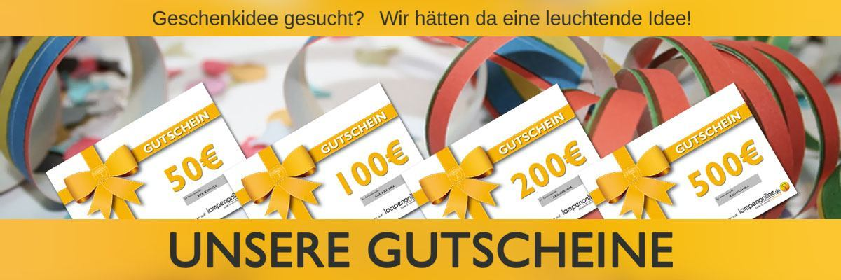 Geschenkgutscheine von Lampenonline.de